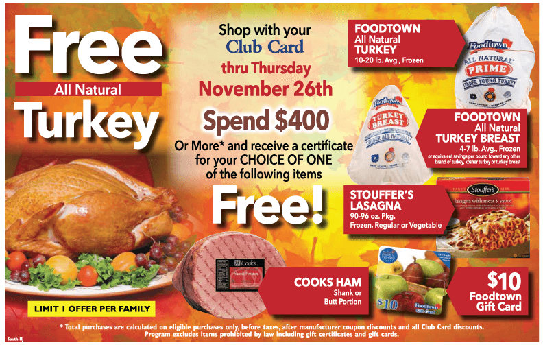 Free Turkey Thanksgiving