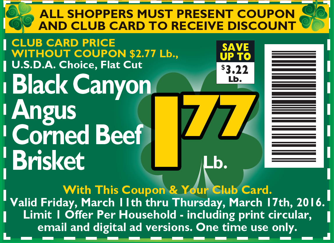 Corned Beef coupon