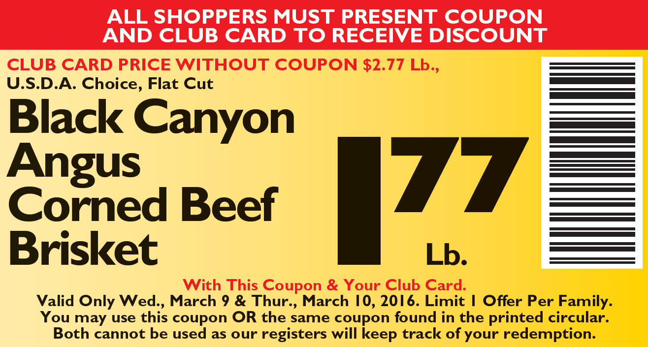 NJ Coupon Corned Beef