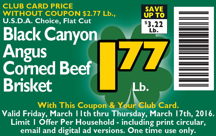 Second Corned Beef Coupon