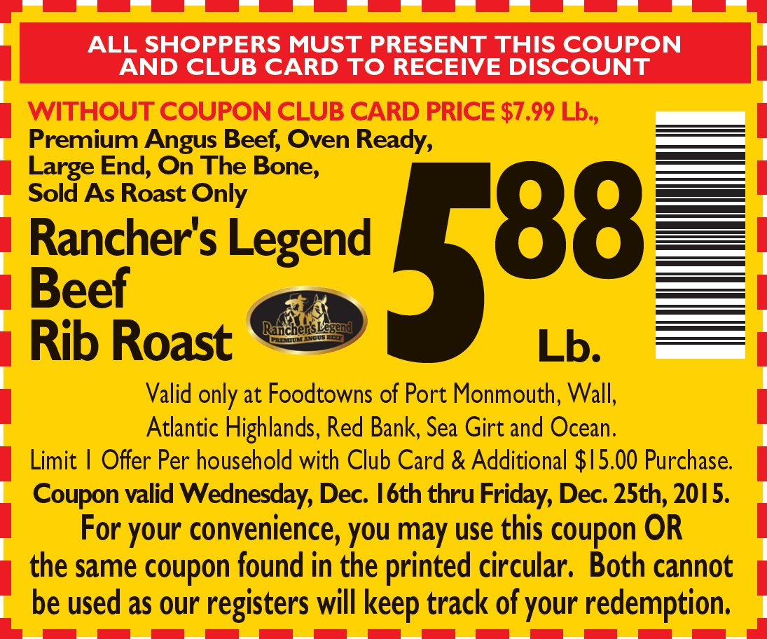 Holiday Rib Roast Coupon