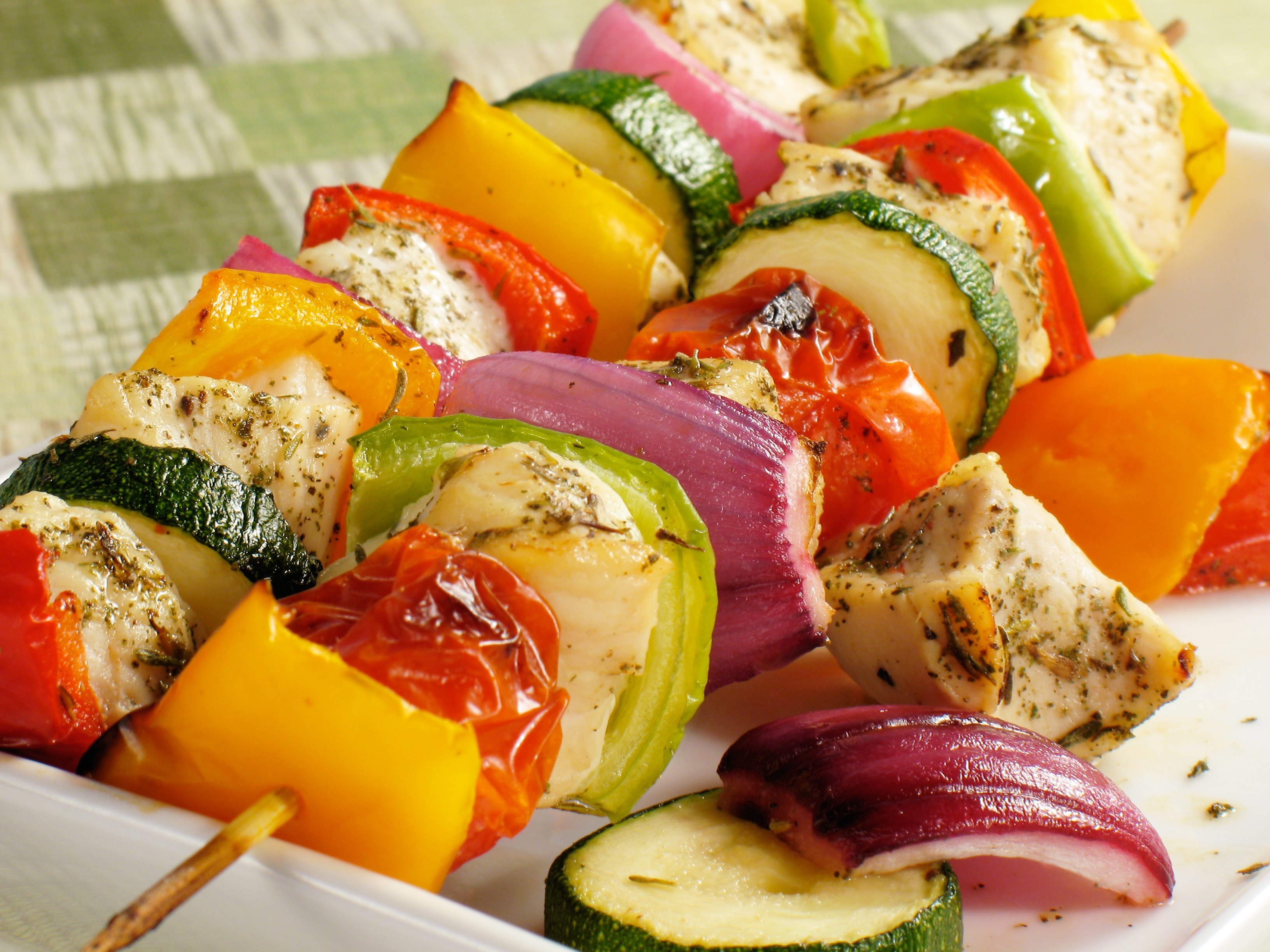 Bell-Pepper Chicken Skewers