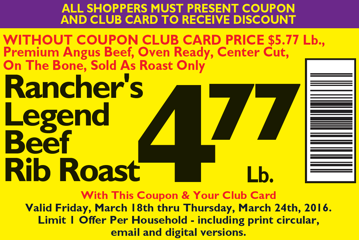 facebook ad coupon rib roast
