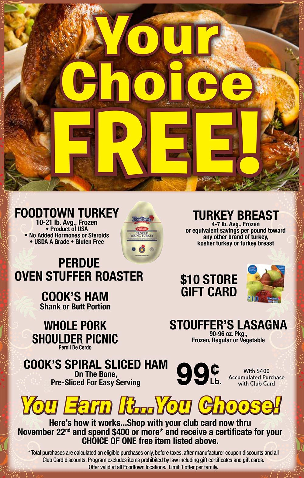 Foodtown is Your Local Grocery Store with a 2018 Turkey Promotion!