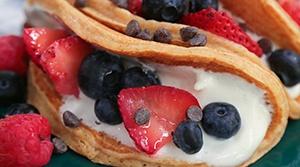 yogurt pancake tacos hero website