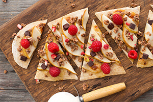 Pear Crumble Pizza