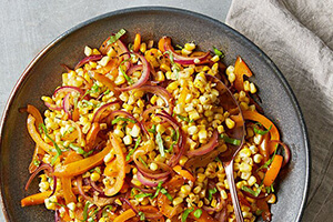 sweet corn salad on a plate
