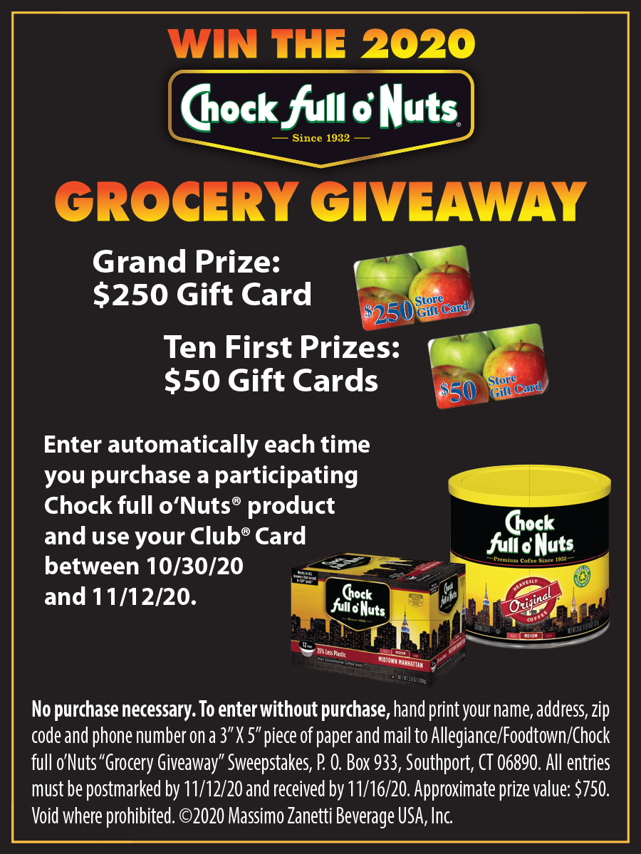 Chock Full O Nuts Grocery Giveaway