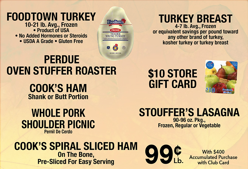 Foodtown stores turkey promo 2020